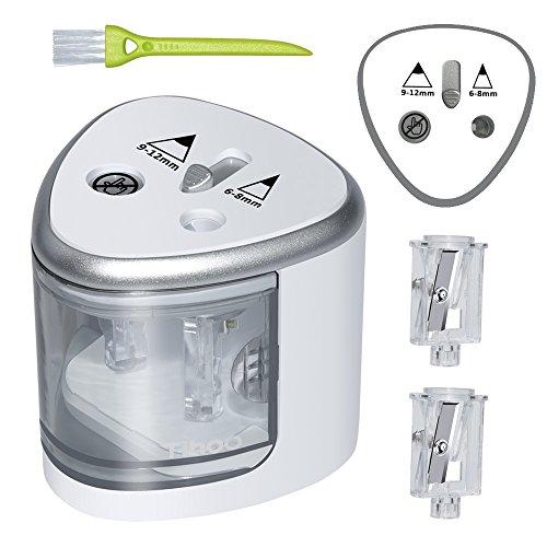 P anspitzer Elektrisch 2 Größen, Spitzer Elektrisch Kleines elektrisches Zubehör für Kinder Schule Klassenraum, bleistiftspitzer(Silber)