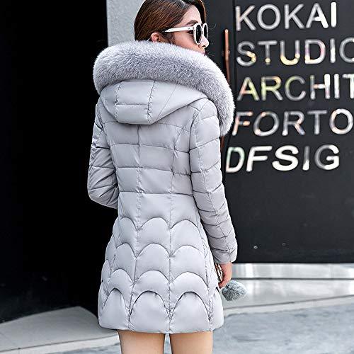 on sale 2255a 62a18 beautyjourney Cappotto Donna Elegante Piumino Pelliccia ...