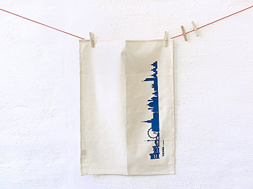 Torchon Vienne en coton bio - Coloris différents - City Towel de 44spaces Natur/Blau