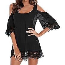 Overdose Cubiertas para Mujer Summer Kimono Beach Bikini Covers Half Lace Solid Swimwear Beachwear