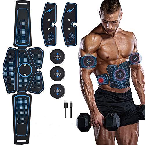 WAMK Bauch Muskel Stimulator Trainer EMS Abs Fitness Ausrüstung Ausbildung Getriebe Muskeln Electrostimulator Toner Übung Zu Hause Gym -