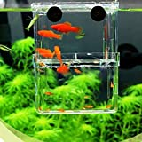 EFORCAR 1pcs Multifunctional Fish Breeding Isolation Box Hanging Fish Tank Incubator Aquarium Accessory