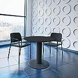 WeberBÜRO Optima runder Besprechungstisch Ø 80 cm Anthrazit Anthrazites Gestell Tisch Esstisch