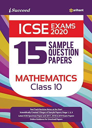 15 Sample Question Papers ICSE Mathematics Class 10 2019-20