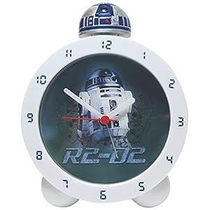 Starwars Unisex Kinder Uhrenarmband R2-D2 Topper AlarmClock