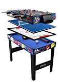 Table multi jeux 4 en 1 IFOYO de 80 cm, table de hockey, babyfoot, billard, ping pong