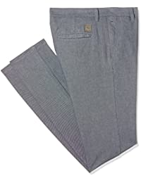 Indigo Nation Men's Straight Fit Casual Trousers (50011793223002_Grey_30W x 33L)