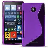 Microsoft Lumia 532 Silikon Hülle Case in Lila Cover Lumia