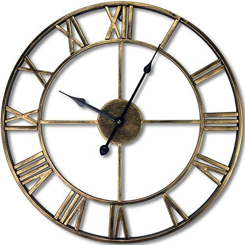 Moderno elegante elegante silenzioso silenzioso tondo orologio da parete in metallo semplice orologio da parete creativo per soggiorno camere da letto ufficio cucinearte di ferro semplice 58cm b