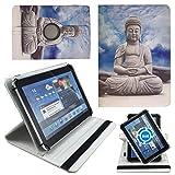 Buddha Statue Tablet Tasche Schutz Etui Hülle für 10 Zoll Jay-Tech / CANOX Tablet PC 101