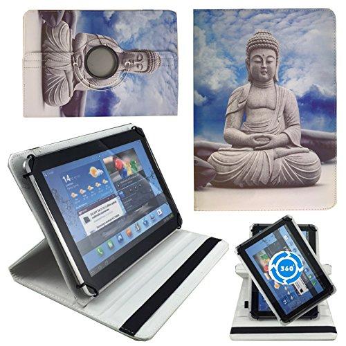 Speed-Planet Buddha Statue Tablet Tasche Schutz Etui Hülle für 10 Zoll Medion LifeTab E10604