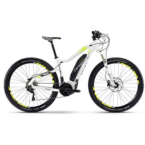 "Haibike SDURO HardNine 6.5 500Wh 20G. XT 29"" YCC Gr M weiß E-Bike anthrazit lime"