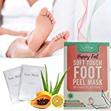 MY LITTLE BEAUTY Foot Peel Mask, Exfoliating Callus Remover, Dead Skin Remover, Get Soft Touch Smooth Feet in Just 1-2 Weeks For Men & Women - (2 Pairs Per Box)