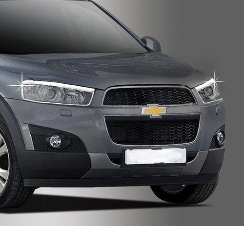 Zubehr-fr-Chevrolet-Captiva-ab-2011-Chrom-Scheinwerferrahmen-Abdeckung-Rahmen-Tuning
