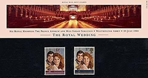 1986 Royal Wedding of Prince Andrew Presentation Pack PP150 (printed no. 174) - Royal Mail Stamps