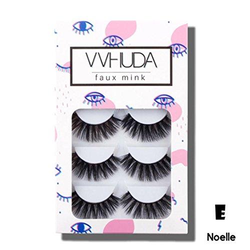 5 Paar 3D Natürliche Dicke Falsche Falsche Wimpern Wimpern Make-Up Verlängerung//künstliche Wimpern dicken Augen Wimpern Wimpern handgefertigt (Schwarz-E)