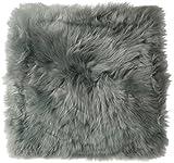Sitzkissen aus bestem Lammfell hochwollig, Farben:grau