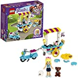 LEGO 41389 Friends Ice Cream Cart Playset with Stephanie, Scooter andDash the Dog Figure, for Kids6+ Years old