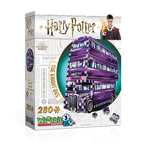 Wrebbit 3D W3D-0507 The Knight Bus Harry Potter-Der Fahrende Ritter von Wrebbit Puzzles, 280 Teile, bunt, 26 x 7 x 19 cm