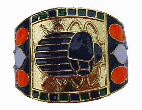 Sehr schöne und überraschenden Armreif ägyptischen emailliertem König TUT und 24 Karat vergoldet. Ein wirklich schönes Schmuckstück