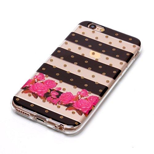 Cover iPhone 6 Plus Spiritsun Case iPhone 6S Plus Custodia Moda Ultraslim Trasparente Soft TPU Case Handy Cover High Quality Case Elegante Souple Flessibile Liscio Copertura Perfetta Protezione Shell  Zebra