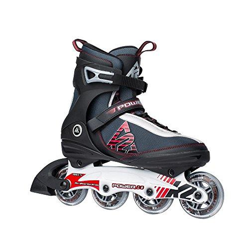 K2 Power 80 Inliner Inlineskates Skates / 80mm Rollen / Abec 5 Lager - 30A0729, Größe:42.5