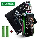 Smoant Naboo 225W Kit mit 4ml Naboo Sub Ohm Tank E Zigarette Akku 2.4'Bunter Bildschirm, Berührungsschaltfläche, Neuer Musikmodus, kein Nikotin und Liquid (Rainbow)