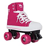 Rookie Canvas High, Unisex Rollschuhe für Kinder, Canvas High, Rosa, 39 EU