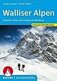 Walliser Alpen: Zwischen Furka und Grossem St. Bernhard. 53 Skitouren mit GPS-Tracks (Rother Skitourenführer)