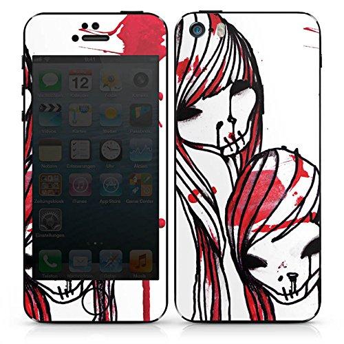 Apple iPhone 5 Case Skin Sticker aus Vinyl-Folie Aufkleber DeadHoxtonGirls Gloria blutig DesignSkins® glänzend