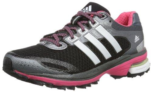 adidas Supernova Glide 5 Atr, Chaussures de Running Compétition femme Noir (noir 1/argenté métallique/rose Bahia S14)