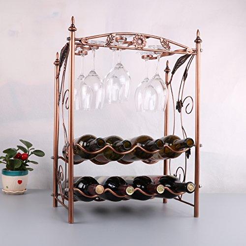 Espresso-wein-cabinet (Creative Rack-Wein Wein hängende Glas zwei Rack)
