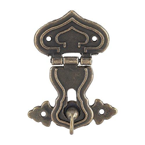 Zerodis Mit Bronze, Hindernisse für Schrank Riegel, 63x 48mm, Antik, für kleine Boxen Schmuck, Koffer und Schränke, 10UNIDs