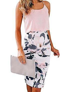 Zilcremo Mujer Elegante Floral Print Oficina Lápiz Falda Bodycon