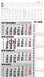 4-Monatskalender Kombi 2018 - Wandkalender/Bürokalender (34 x 59) - mit Datumsschieber - mit Jahresübersicht