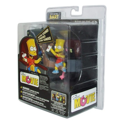 Image of Mcfarlane Toys Official Mcfarlane The Simpsons Movie Bart Movie Mayhem Figure