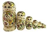 Winterworm Babuschka Puppen Matroschka Holzpuppen Handarbeit Russische Puppe 7 Teilig