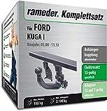 Rameder Komplettsatz, Anhängerkupplung abnehmbar + 13pol Elektrik für Ford KUGA I (142817-07367-2)