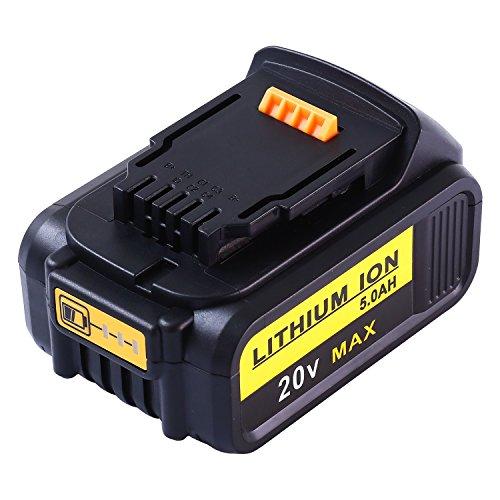 Powayup DCB184 20V 5.0Ah Batería Reemplazo para DeWalt XR 18V 20V MAX DCB200 DCB182 DCB180 DCB183 DCB185...