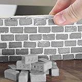Meilleurs Cadeaux Pour Les Jeux De Famille !!! Jumberri 24Pc Mini Blocs De Ciment Et Mortier Faites Votre Propre Petit Mur Construction Mini Jouet De Brique (3.3X1.7X1.7 Cm)