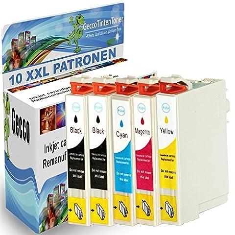 10 Spetan Druckerpatronen kompatibel für Epson T0711 T0712 T0713 T0714 XL Set mit Chip und Füllstand , (Schwarz , Cyan , Magenta , Gelb) Black, je 18ml, Color, je 18ml , 4x BK, 2x C, 2x M, 2x Y Tinte Tintenpatronen Inkcartridge 10x0711-eps