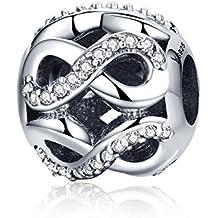 Amore infinito in argento Sterling 925Bead charm Pandora, braccialetti europei compatibile