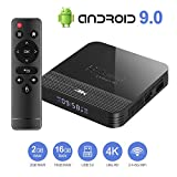 Byttron Android 9.0 TV Box Smart Media Box 2GB RAM 16GB ROM RK3228A Quad Core Bluetooth 4.0 WiFi 2.4G & 5G Ethernet 2USB Set Top Box Support 4K Ultra HD Internet Video Player