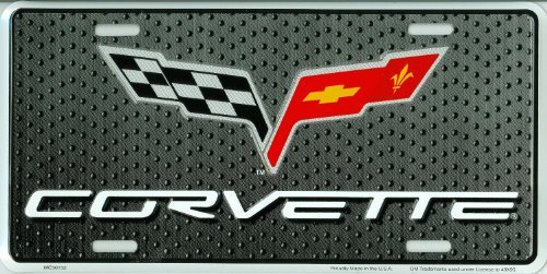 Front License Cover Plate (Corvette Novetly Front License Plate 6x12 Metal Car Tag)