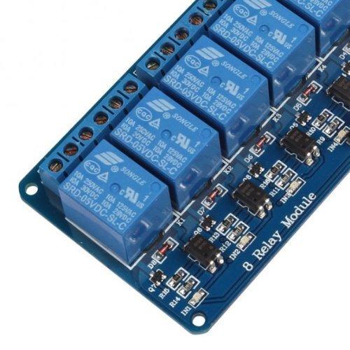 51CotY8I2GL - Kuman 5V 8 Canales Escudo Módulo de Relé para Arduino UNO R3 1280 2560 ARM PIC AVR STM32 Raspberry Pi DSP K30