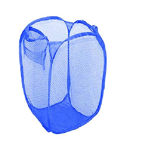 Longyitrade lavanderia pop up mesh lavaggio borsa portabiancheria pieghevole cestino cesto portaoggetti navy blue