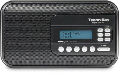 TechniSat DigitRadio 200 (DAB+, DAB, UKW-Empfang) schwarz