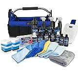 Petzoldts XXL Profi-Fahrzeugpflege-Set - 27 Top-Produkte + Tasche + rote und blaue Reinigungsknete