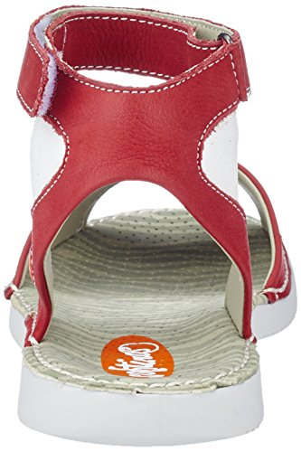 Softinos Tia385sof, Sandales Bride cheville femme Rouge
