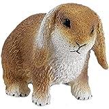 Schleich 14415 - Conejo enano, El Holland Lop, color café claro con blanco